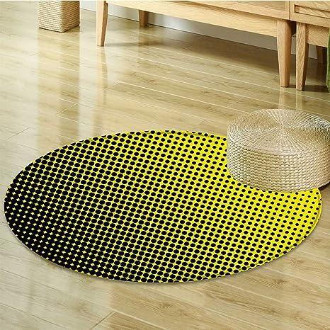 Amazon com: Print Area rug Yellow Themed Yellow Background