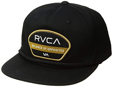 a4fe398163bce5 Amazon.com: RVCA Men's Opposite Snapback HAT, Black, One Size: Clothing