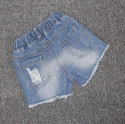 Pcutrone Girls Denim Ripped Cute Cutoff Casual Jean Short