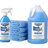 Wet or Waterless Car Wash Wax Kit 144 Ounces. Aircraft Quality for Your Car, RV, Boat, Motorcycle. The Best Wash Wax…
