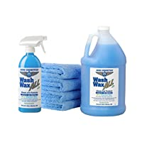 Wet or Waterless Car Wash Wax Kit 144 Ounces. Aircraft Quality for Your Car, RV,...