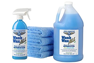 Wet or Waterless Car Wash Wax Kit 144 Ounces. Aircraft Quality