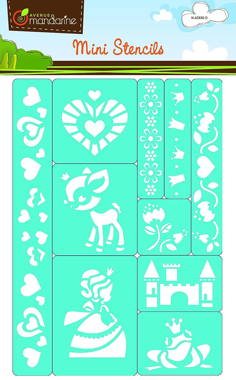 Avenue Mandarine Mini Stencils - Princesses Madly 42830O