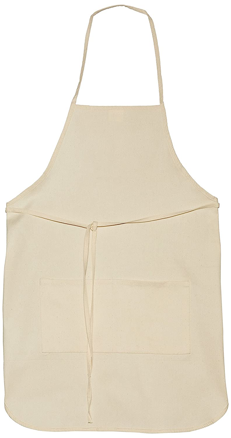 Canvas adult apron with pocket