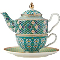 Maxwell & Williams HV0115 Teas & C's Kasbah Tea for 1 with Infuser Gift Box, 380 ml Capacity, Mint