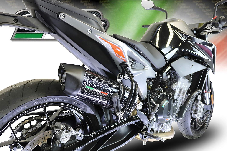 POT ECHAPPEMENT GPR EXHAUST COMPATIBLE POUR KTM DUKE 790 2017//19 e4 ECHAPPEMENT HOMOLOGU/È FURORE EVO4 CARBON