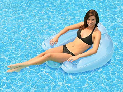 Pool Floats For Adults Water Floating Chair Comfortable Lounge Chair Beach  Inflatable Lounging Float With Drink