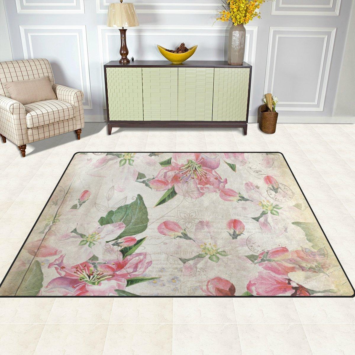 Ingbags Super Doux Floral moderne Zone vintage Tapis Tapis Tapis de salon Chambre /à coucher pour enfants jouer solide Home Decorator Sol Tapis et moquettes 160/x 121,9/cm 63 x 48 Inch multicolore
