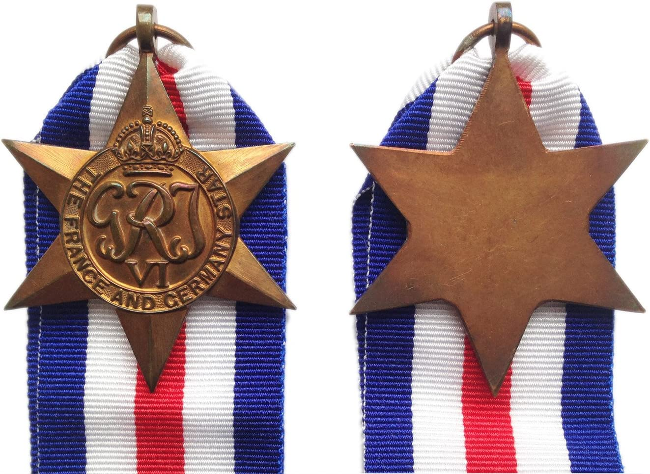 France and Germany Star Defence Medal and 1939//45 War Medal Replica 1939//45