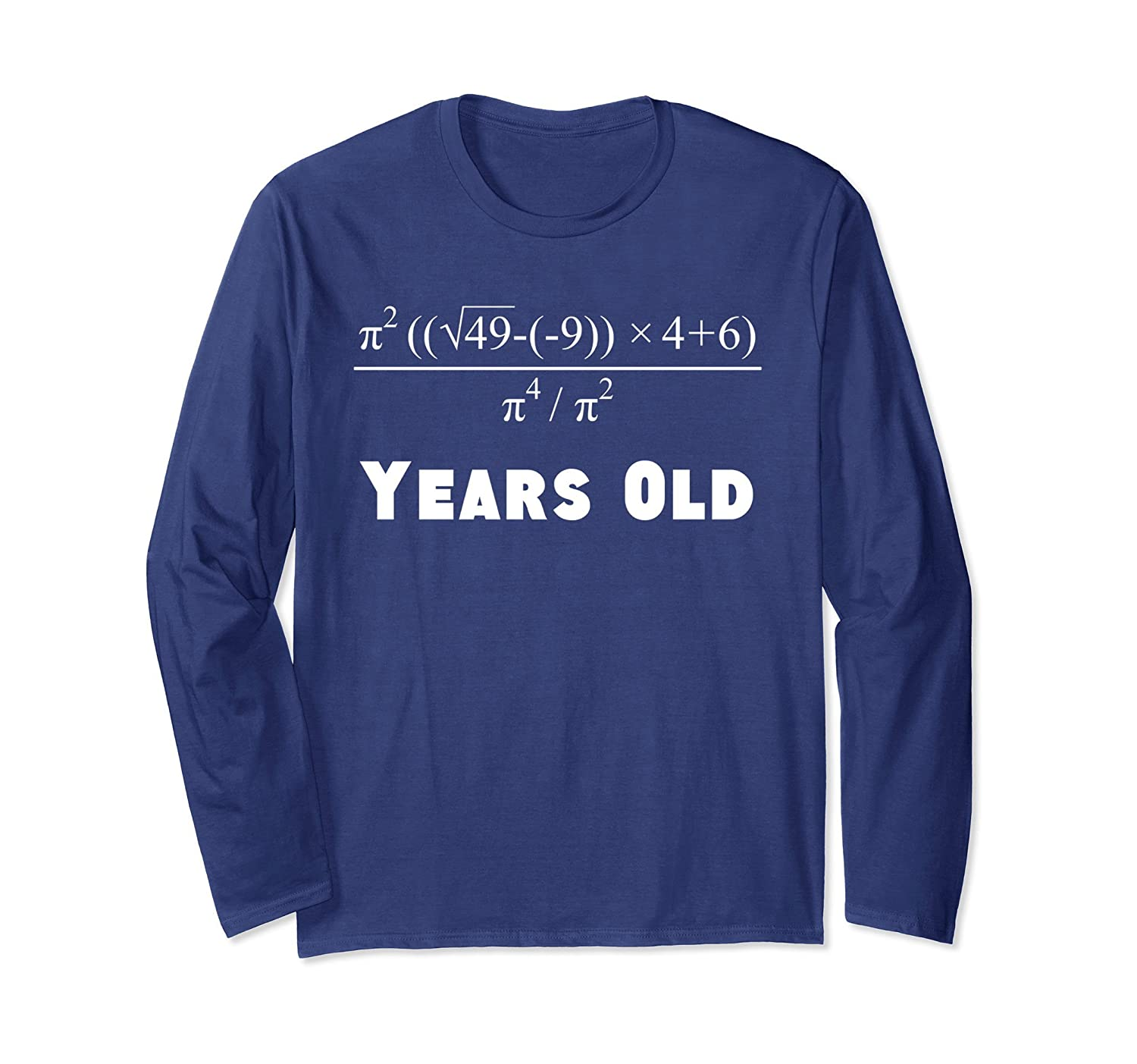 03c7c0610 70 Years Old Math Equation 70th Birthday Long Sleeve T-Shirt-alottee gift
