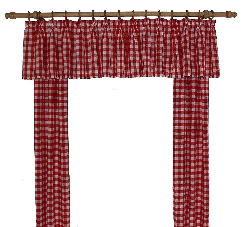 Wirth Vorhang, Polyacryl, Rot, 145 x 115 cm, 2-Einheiten