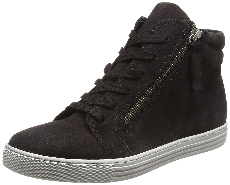 Gabor Shoes Comfort Basic, Zapatos de Cordones Derby para Mujer 37.5 EU|Gris (Dark-grey Micro)