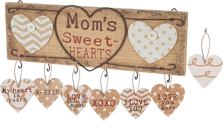 Ganz Rustic Wood Key Holder Mom's Sweet Heart