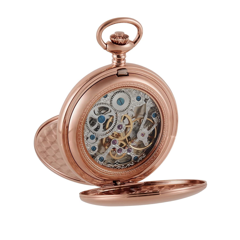 Große Rose Gold Taschenuhr – von Woodford (1860) 17 Jewel mechanische Bewegung