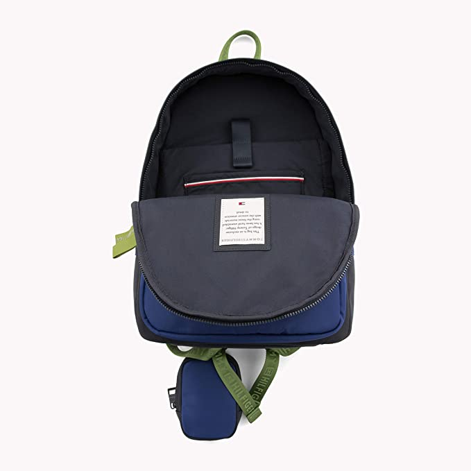 Tommy Hilfiger - Effortless Saffiano Backpack, Mochilas Mujer, Azul (Corporate), 15x29x21
