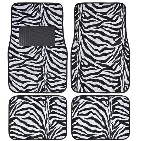 Image of: Images Image Unavailable Amazoncom Amazoncom Set Of Universal Fit Animal Print Carpet Floor Mats