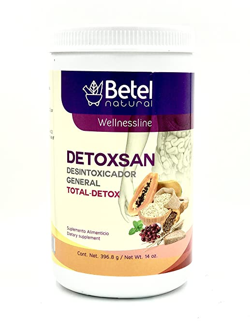 Amazon.com: Detoxsan Total Detox Powder - Colon Cleanse and More - Betel Natural 14 Oz: Health & Personal Care