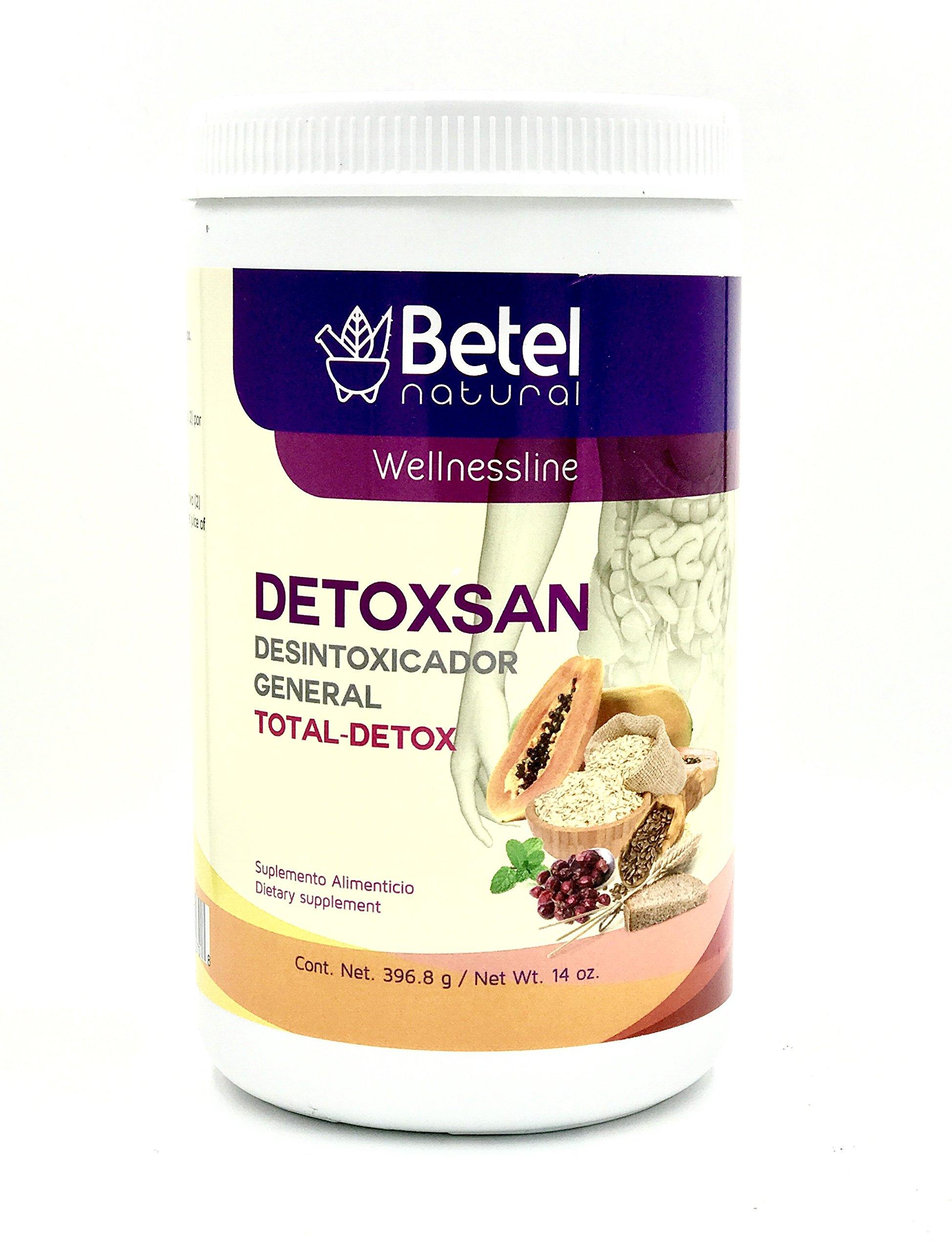 Detoxsan Total Detox Powder - Colon Cleanse and More - Betel Natural 14 Oz