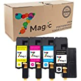 7Magic Compatible Toner Cartridge Replacement for Dell 1250c 1350cnw 1355cn C1760nw c1765nfw Series - High Yield, BCMY / 1 Set