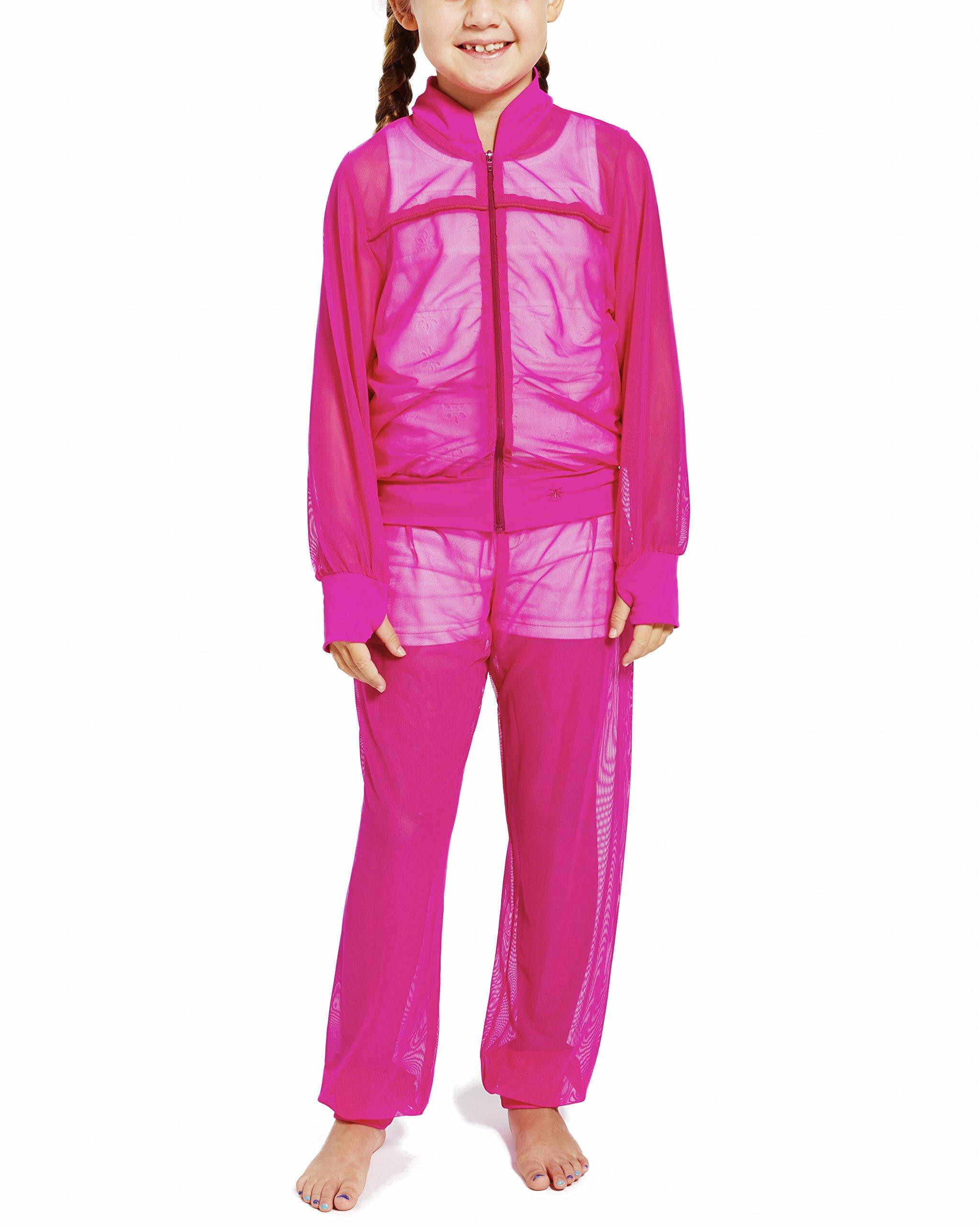 LIL&TESS Resort Mesh Kids Tracksuit (XL, Hot Pink)
