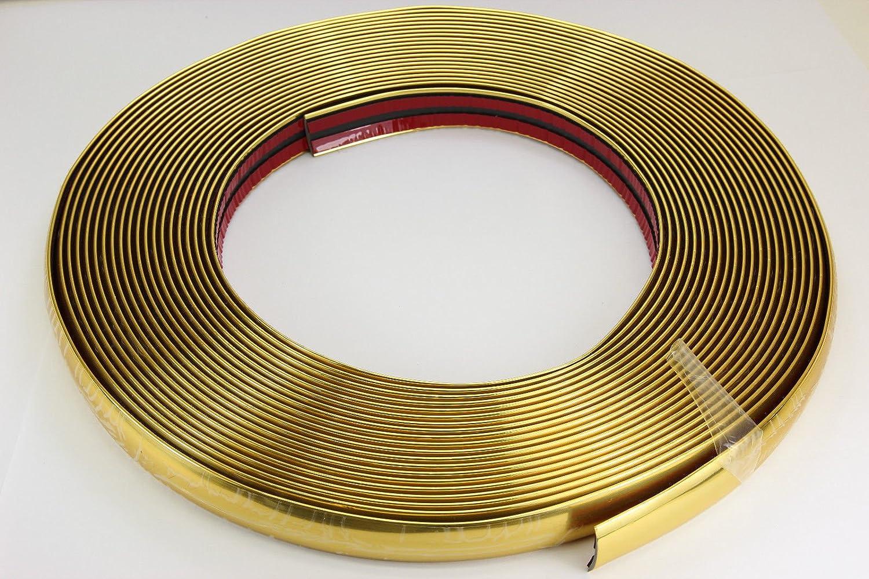 Gold Chrom Zierleiste 20mm X 15m Selbstklebend Universal Auto Goldleiste Kontur Auto