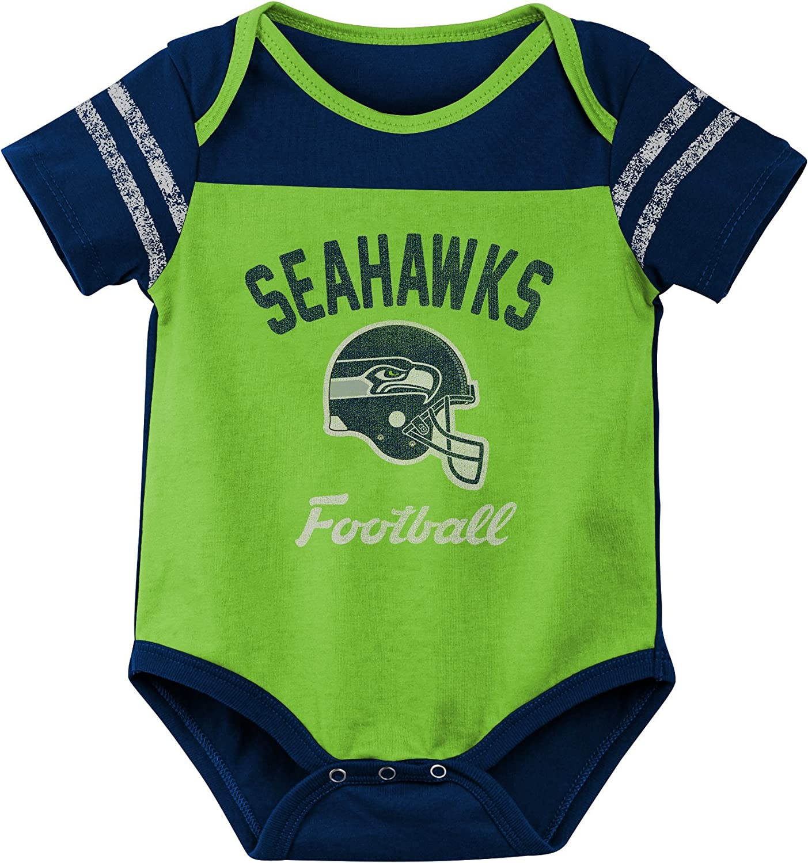 18 Months Action Green NFL Seattle Seahawks Infant Outerstuff Dual-action 2 Piece Bodysuit Set
