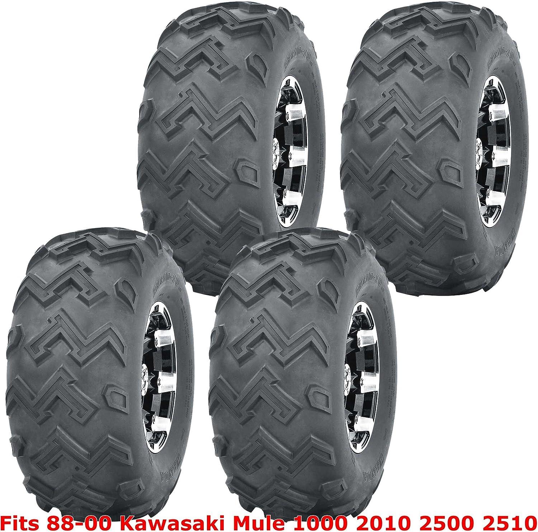 Full Set UTV Highload Tires 22x11-10 for 88-00 Kawasaki Mule 1000 2010 2500 2510