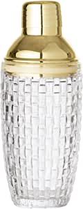 Bloomingville 321145220.385L Glass, Stainless Steel Cocktail Shaker–cocteleras (0.385L, Glass, Stainless Steel, Gold, Transparent, 8.5cm, 220mm