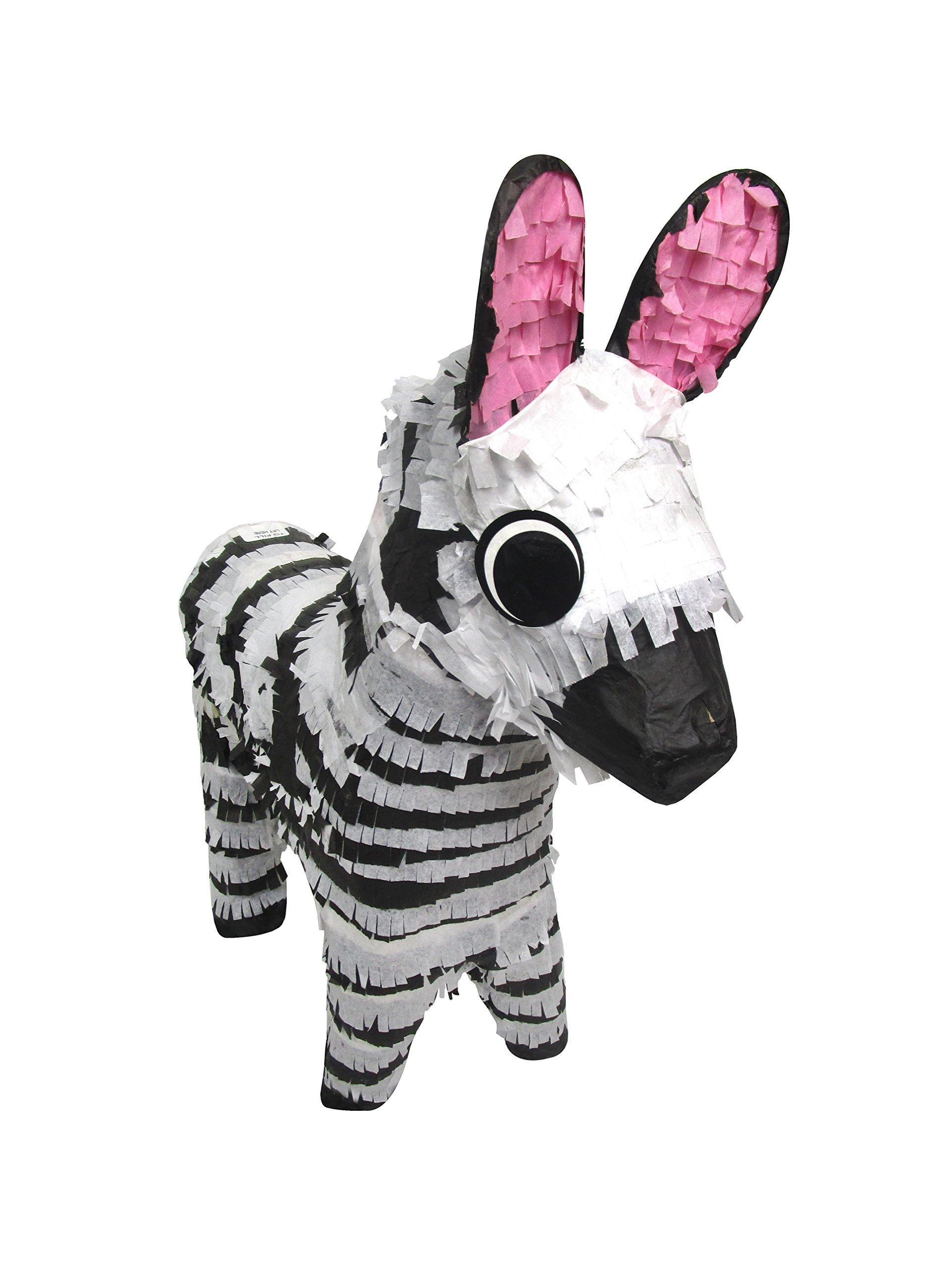 Zebra Pinata, 22'' Party Game, Decoration Centerpiece and Photo Prop