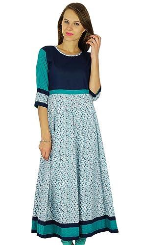 Phagun étnico Diseñador Kurti india de Bollywood algodón mujeres de la túnica vestido Kurta