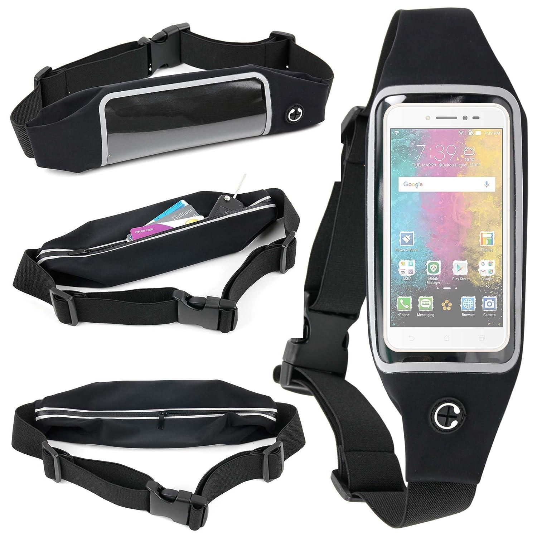 Ceinture de Sport Ré glable Pour Smartphone LG G6, Asus Zenfone Live (ZB501KL) et BlackBerry Mercury DTEK70 (avec É cran Tactile et poche Interne) par DURAGADGET