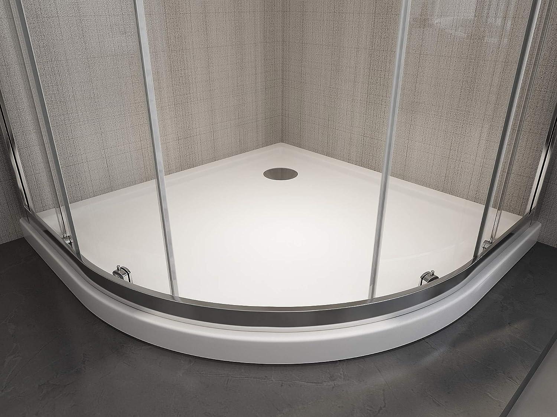 Laneri Box - Ducha semicircular, redonda, antical, 87,5 x 89 cm ...
