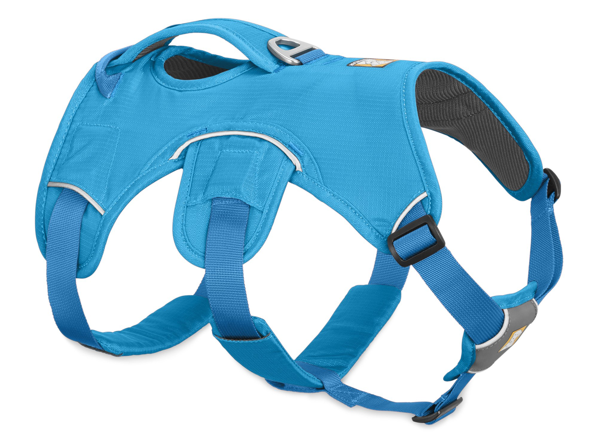 RUFFFWEAR Web Master Dog Harness with Lift Handle, Blue Dusk, Medium