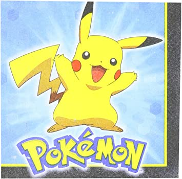 Pokemon Pikachu & Friends Beverage Napkins 16ct: Amazon.es: Juguetes y juegos