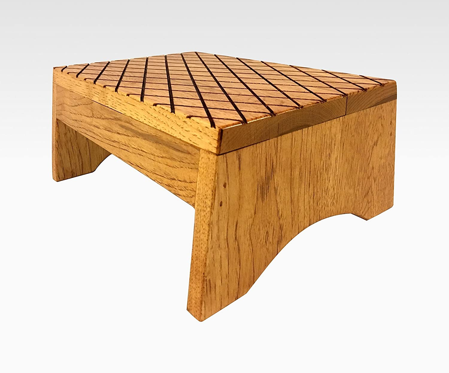 Excellent Amazon Com Wood Step Stool Footstool By Cw Furniture In Short Links Chair Design For Home Short Linksinfo