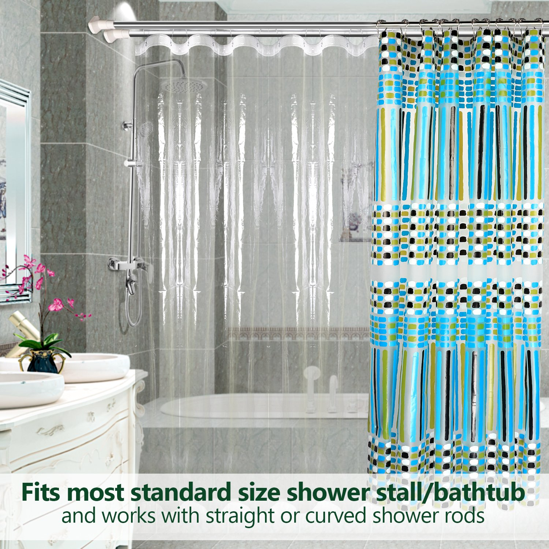 Clear Shower Curtain LinerFeagar Mold Mildew Resistant Waterproof Anti Bacterial 72x72 Inch