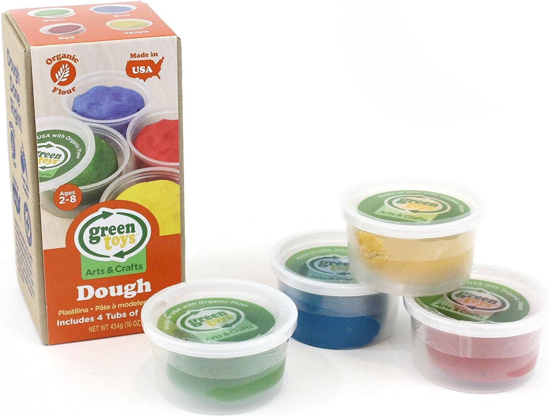Green Toys Dough 4 Pack Activity Set, Multi, 1 EA