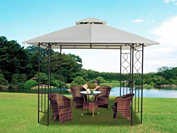 Greenbay Metal Gazebo With Steel Frame Marquee 3x3m Garden Canopy