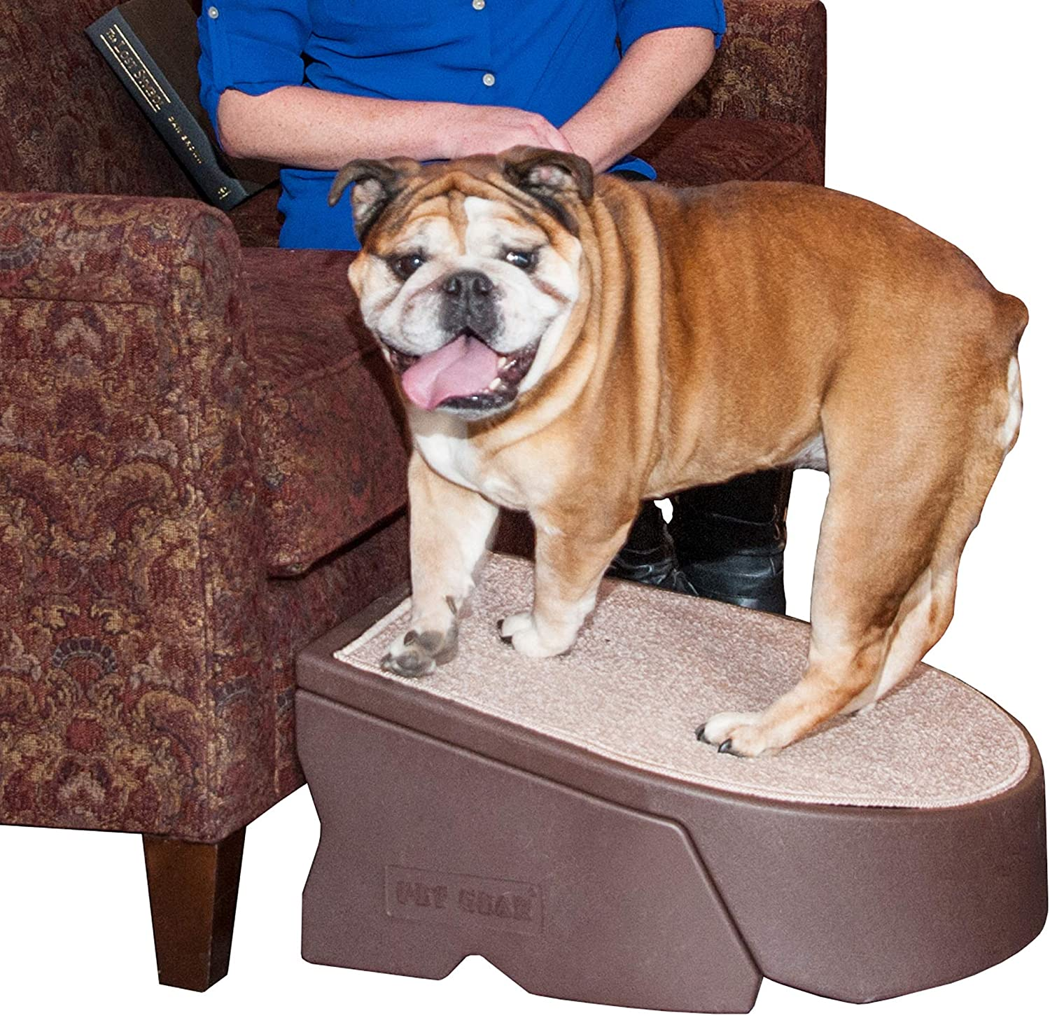 Pet Gear Stramp Stair and Ramp Combination, Dog/Cat Easy Step, Lightweight/Portable, Sturdy, Extra Wide, Gentler Sloped : Pet Supplies