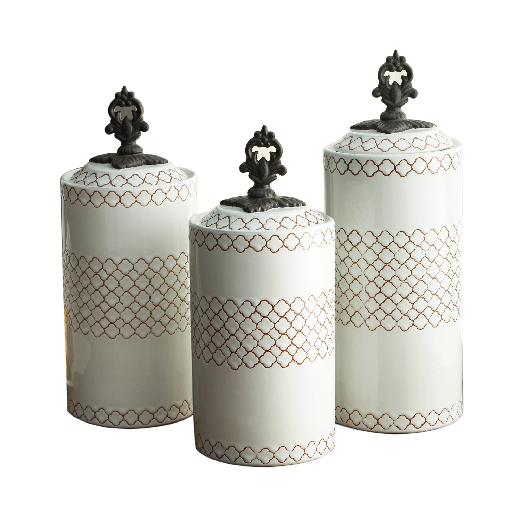 American Atelier Canisters (Set of 3), White