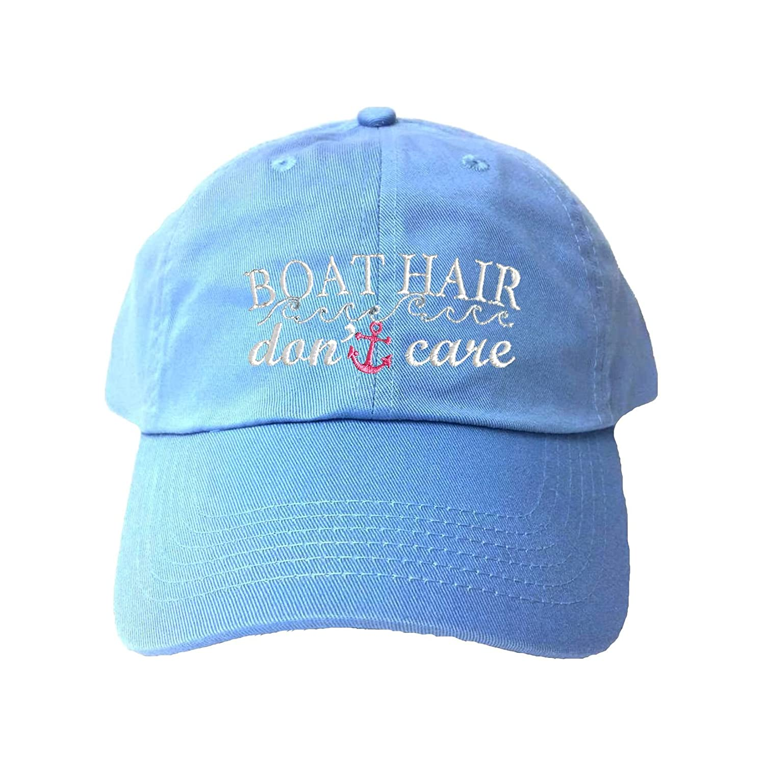 Go All Out Adult Boat Hair Don't Care Embroidered Dad Hat