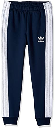 1b88f1498 adidas Originals Boys' Little Authentics Pants, Collegiate Navy/Light Grey  Heather/White
