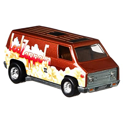 Hot Wheels Led Zeppelin Super Van, Red: Toys & Games
