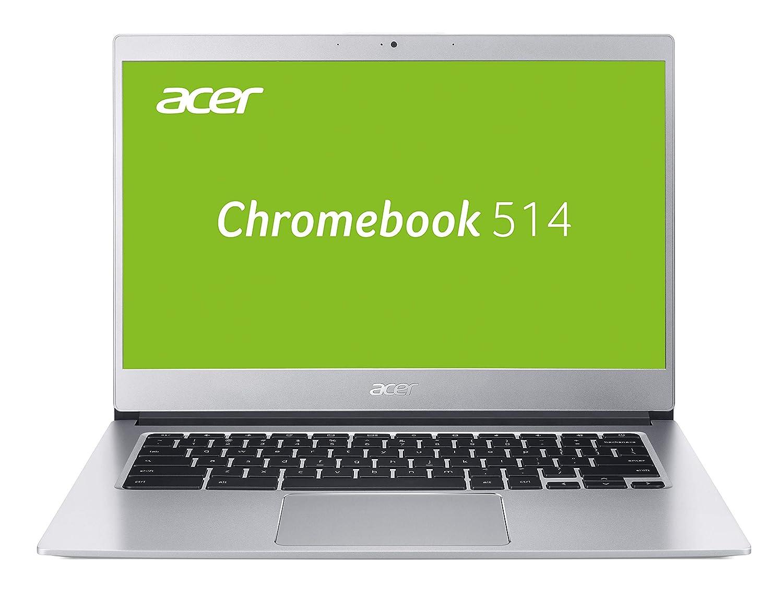 Acer Chromebook 514 CB514-1H-P4N6 35,6 cm (14 Zoll Full-HD IPS matt) Chromebook (Intel Pentium N4200, 4GB RAM, 64GB eMMC, Intel HD, Chrome OS) silber