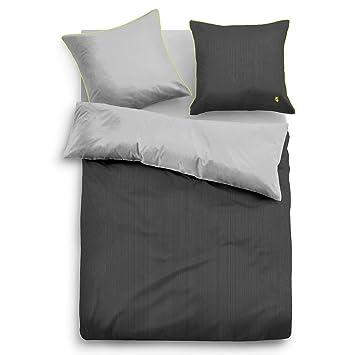 Tom Tailor Satin Bettwäsche Mit Reißverschluss Light Green 135x200