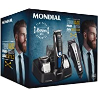 Conjunto Barber Kit II, Mondial, Conjunto Barber KIT II KT-84, Golden Rose, 127V
