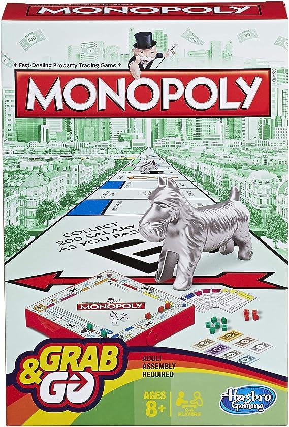 Hasbro Gaming Juego de Viaje Monopoly, versión inglésa: Amazon.es: Juguetes y juegos