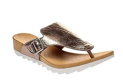 Maca Kitzbühel 2200 - Damen Schuhe Zehentrenner Pantoletten - White, Größe:40 EU