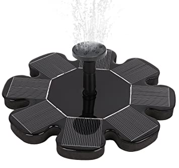 Solar Power Bird Bath Fountain, 2017 Outdoor Water Fountain Pump For Pool,  Garden,