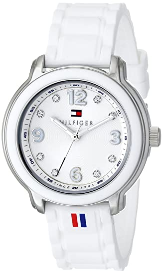 4d707f1a0b6e Tommy Hilfiger 1781418 Reloj de acero inoxidable con decoraciones de  cristal